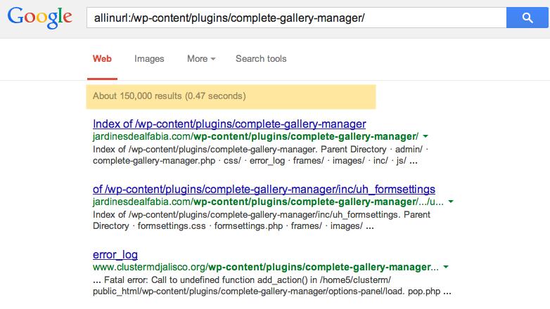 ការរុករករបស់ Google.com  ចំពោះវិបសាយដែលប្រើប្រាស់  Plugin មួយនេះ