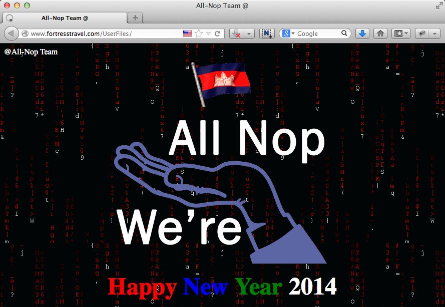 """ទំព៍រដែលត្រូវបានបញ្ចូលដោយក្រុម Hacker """"All Nop Team"""""""