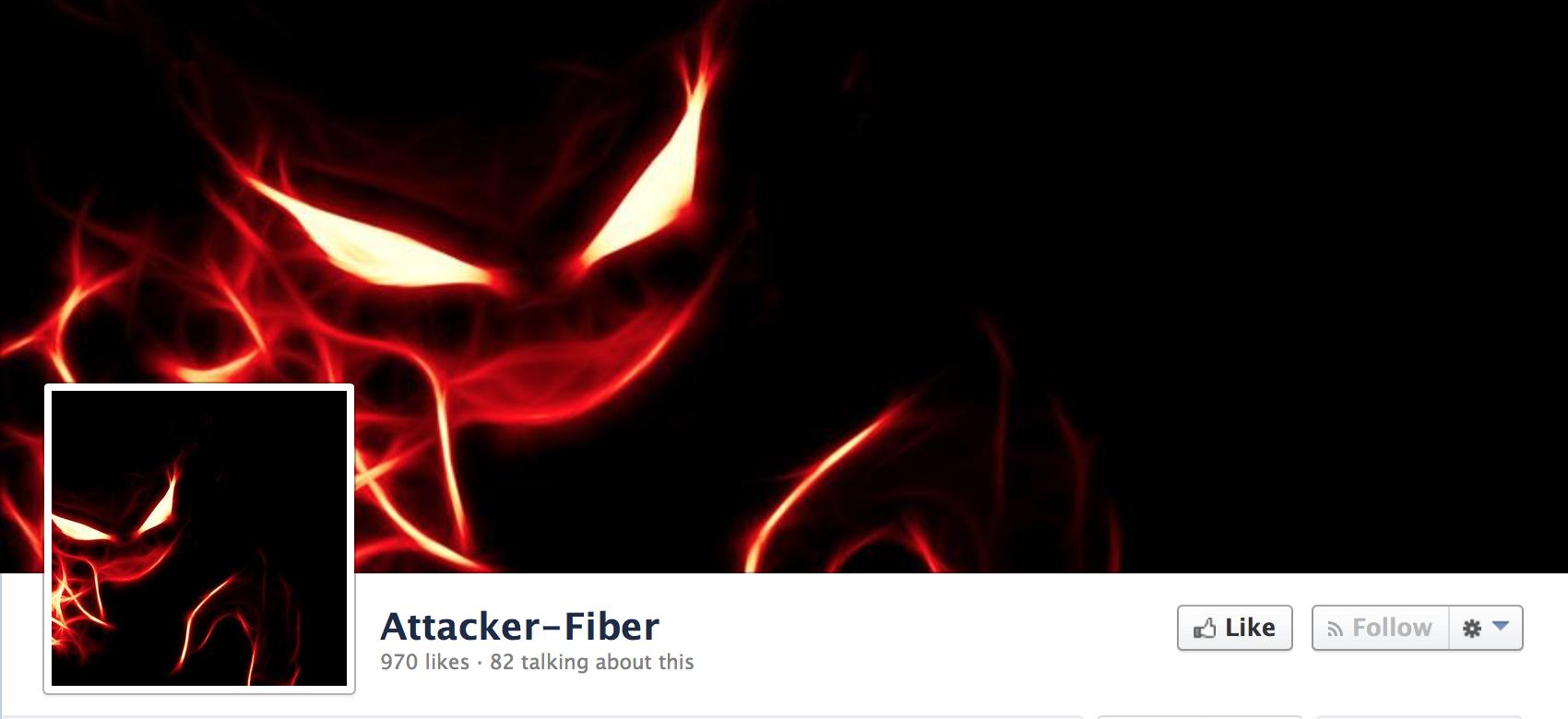 Facebook Page របស់ Attacker Fiber