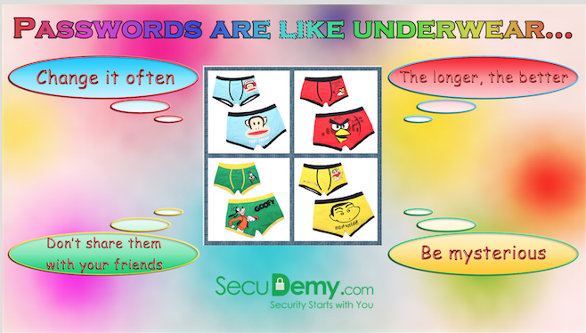 Poster – Password is like your underware