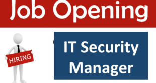 Job Opening: IT Security Manager (Credit Bureau Cambodia)
