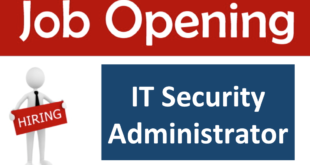 Job Opening – IT Security Administrator (Vision Fund)