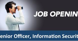 Job: Senior Officer, Information Security (Amret Microfinance)