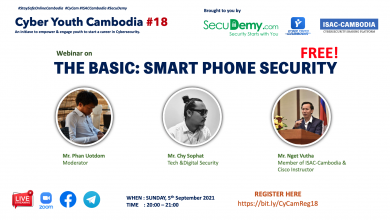 Cyber Youth Cambodia #18: Smart Phone Security